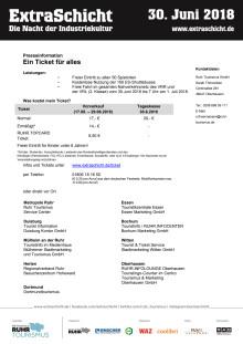 ExtraSchicht 2018 - Service und Tickets
