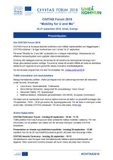 CIVITAS Forum pressinbjudan