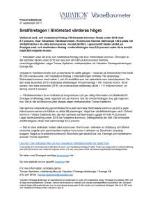 Värdebarometern 2017 Strömstads kommun
