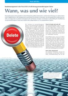Kundenmanagement in der Praxis: Archivierung personenbezogener Daten - wann, was und wie viel?