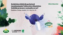 Arlan ja UPM:n #kierrätyschatissa keskusteltiin vilkkaasti kierrätyksestä perheissä