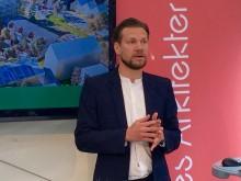 Områdesarkitekt Rickard Stark diskuterade Vallastadsmodellen i Almedalen