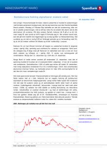 Makrorapport desember 2018: Rentekurven varsler svak vekst og Brexit-kaos tirsdag