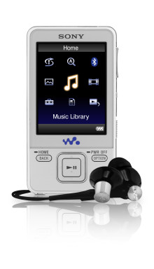 Big screen, big battery life: new NWZ-A820 series WALKMAN® video MP3 Players with Bluetooth® Stereo