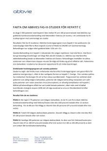 AbbVies fas-III-studier för hepatit C  - fakta