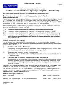 Notice under section 14