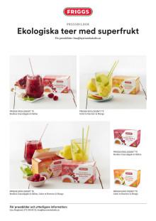 Ekologiska teer med superfrukt