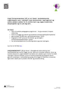 Fakta om Ungt Entreprenørskap Oslo