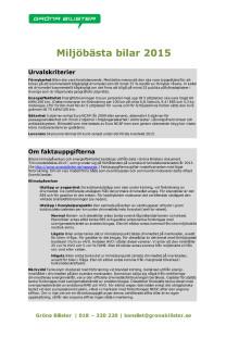 MILJÖBÄSTA BIL 2015