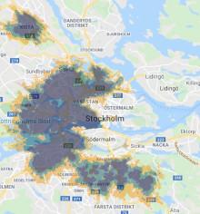 Tre lanserar 5G på Kungsholmen, i Kista, Bagarmossen, Bromma och Solna