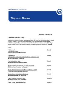 Tipps und Themen 1-2016
