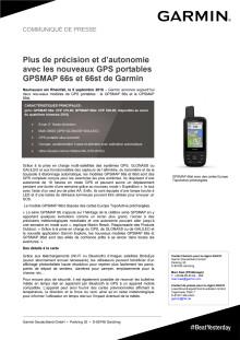 Plus de précision et d'autonomie avec les nouveaux GPS portables GPSMAP 66s et 66st de Garmin