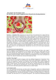 """Pressemitteilung: """"Herz zeigen!"""" bei dm-drogerie markt"""