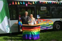 Arriva deltog på Halmstads allra första Pride