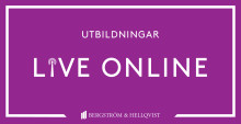 Bergström & Hellqvist lanserar utbildningar live online