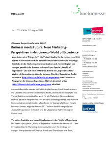 Business meets Future: Neue Marketing-Perspektiven in der dmexco World of Experience