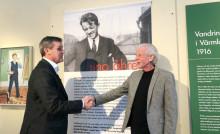 Leif Linde invigde Uno Åhrén-utställning i Arvika