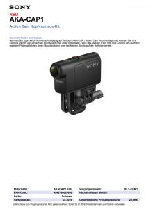 Datenblatt AKA-CAP1 von Sony