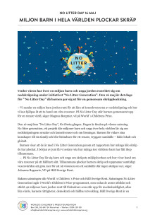 No Litter Day 16 maj 2018 – pressrelease