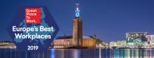 Fler svenska organisationer än någonsin bland Europas Bästa Arbetsplatser