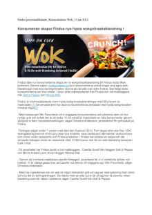 Konsumentens Wok: Findus konsumenter skapar egen fryst wokgrönsaksblandning !