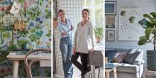 Toppbloggare tapetinspirerar för Boråstapeter - Idag släpps första filmen av tre med Kristin Lagerqvist och Johanna Bradford