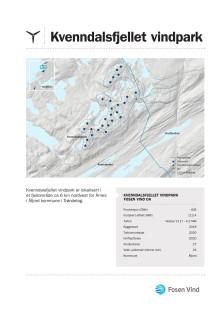 Faktaark Kvenndalsfjellet vindpark 2018