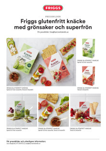 Friggs Bildblad - glutenfritt knäcke med grönsaker och superfrön
