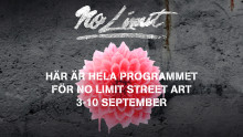 ​Fler än 150 programpunkter under No Limit Street Art