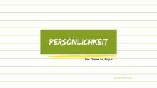 Webinare für Studis im August: Persönlichkeit als erfolgskritische Eigenschaft
