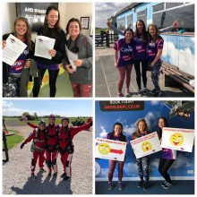 Finegreen ladies take to the skies for charity!