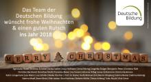 Das Team der Deutschen Bildung wünscht frohe Weihnachten!