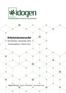 Idogen offentliggör Bokslutskommuniké 2015