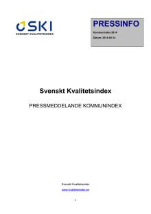 Svenskt Kvalitetsindex - Kommunindex