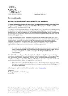 Kött och Charkföretagen inför uppförandekod för sina medlemmar