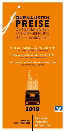 Flyer Journalistenpreise 2019
