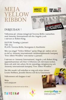 Meja Yellow Ribbon Inbjudan