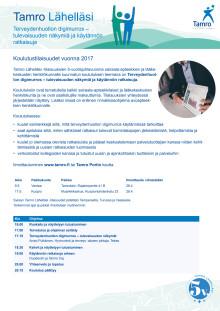 Tamro Lähelläsi -tilaisuuksien aikataulu ja ohjelma / sairaala-apteekit