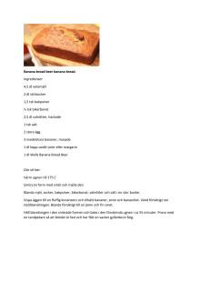 Recept: Bananbröd med Banana Bread Beer