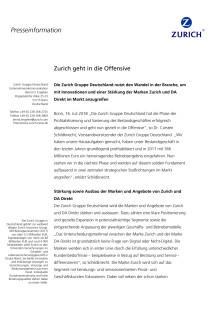Zurich geht in die Offensive