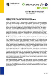 Pressemitteilung der Stadt Leipzig zum neuen Fernbus-Terminal