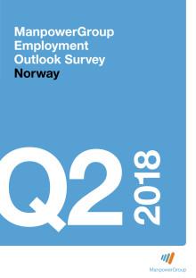 ManpowerGroups arbeidsmarkedsbarometer 2. kvartal 2018
