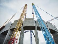 Cirkeln på Helsingborgs nya vattentorn sluts
