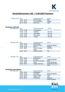 Programm zum Bootshafensommer 2020