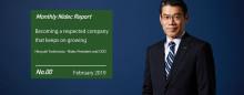 Monthly Nidec Report - Hiroyuki Yoshimoto (President and COO)