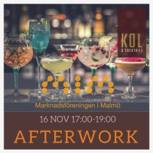 Afterwork - Kol & Cocktails i Malmö 16 nov!