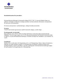 Kontaktinformation för journalister