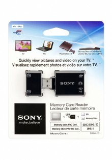 New TV-friendly Memory Card Reader from Sony