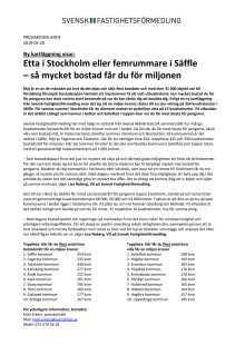 Ny kartläggning visar: Etta i Stockholm eller femrummare i Säffle  – så mycket bostad får du för miljonen
