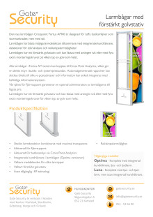 PDF: Larmbågar med förstärkt golvstativ